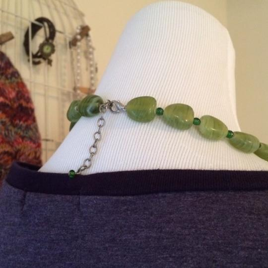 No Brand Green Rock Necklace Image 1