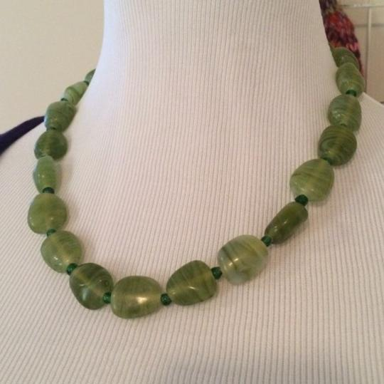 No Brand Green Rock Necklace Image 2