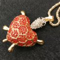 ? Rhinestone heart turtle necklace - see details Image 1
