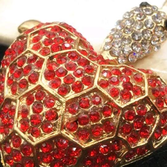 ? Rhinestone heart turtle necklace - see details Image 2