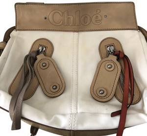 Chloé Satchel in tan beige