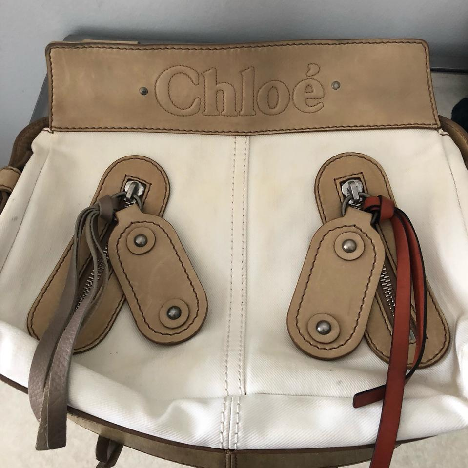 55c3db29d0d7 Chloé Canvas Leather Purse Tan Beige Satchel - Tradesy
