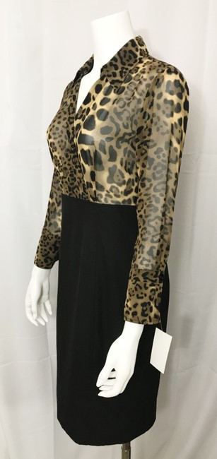 Donna Degnan Animal Print Multi Media Empire Waist Chiffon Dress Image 2