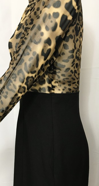 Donna Degnan Animal Print Multi Media Empire Waist Chiffon Dress Image 3