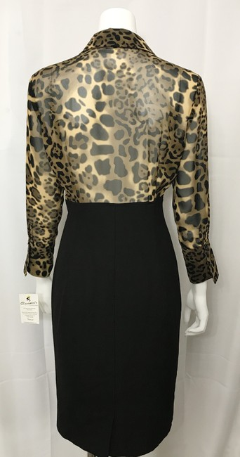 Donna Degnan Animal Print Multi Media Empire Waist Chiffon Dress Image 5