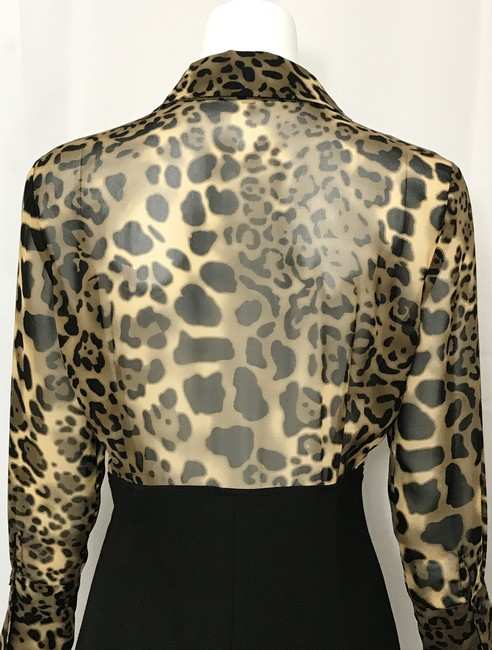 Donna Degnan Animal Print Multi Media Empire Waist Chiffon Dress Image 6