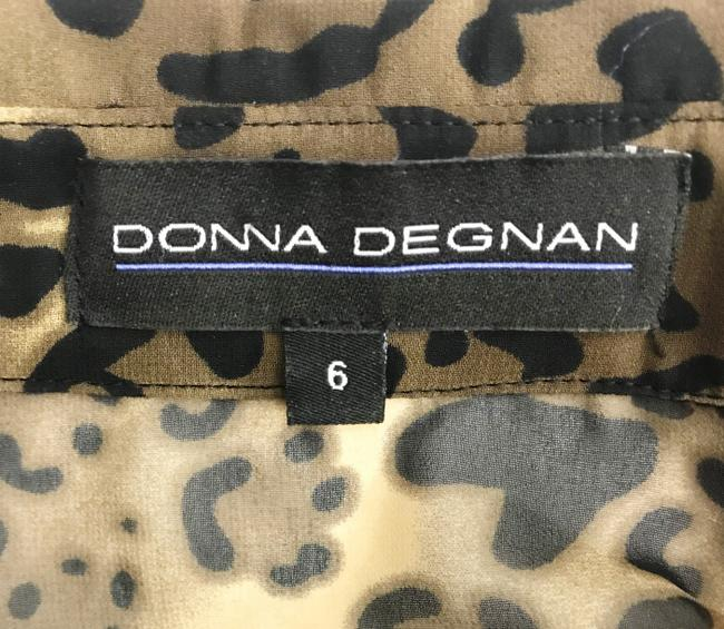 Donna Degnan Animal Print Multi Media Empire Waist Chiffon Dress Image 7