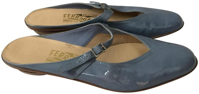 Item - Blue Stone Audrey Mary Jane Patent Leather Mules/Slides Size US 5.5 Wide (C, D)