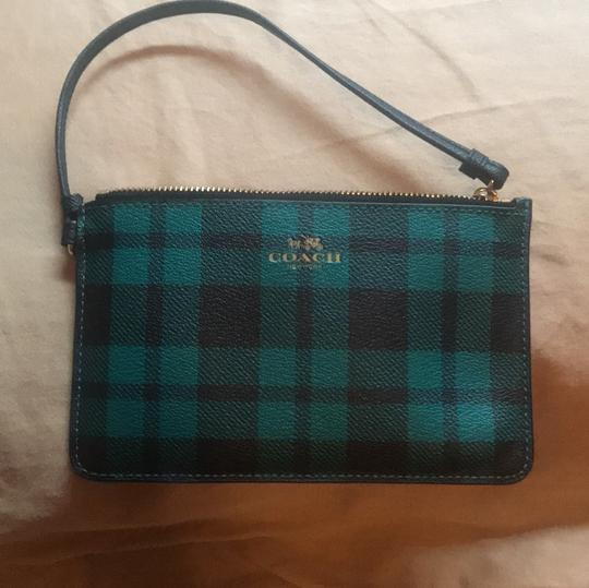 Coach Wristlet in Green and Black Image 7