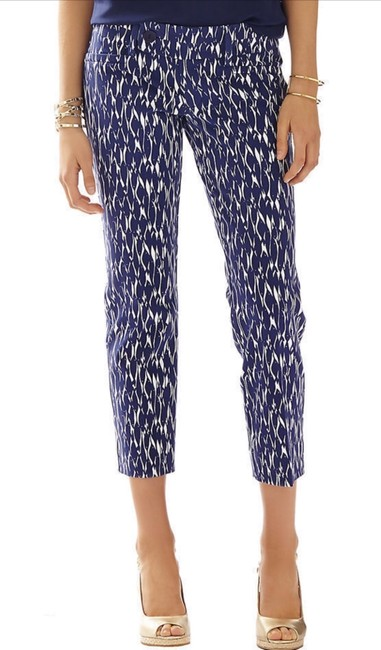 Lilly Pulitzer Capris Bright Navy Image 1
