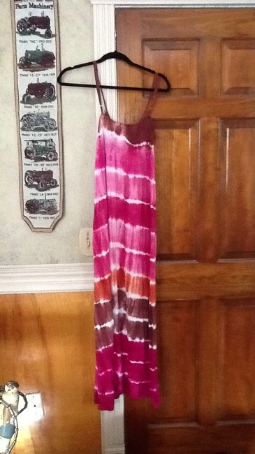 pink and brown Maxi Dress by Other