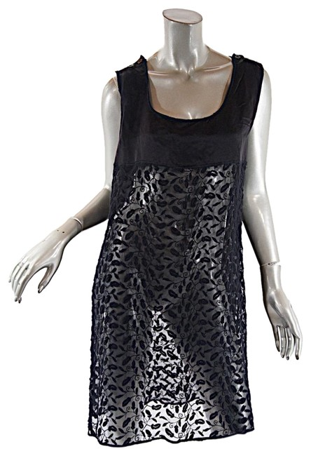 Preload https://img-static.tradesy.com/item/23436048/jean-paul-gaultier-black-femme-cottonsatin-embroidered-tunic-short-casual-dress-size-6-s-0-2-650-650.jpg