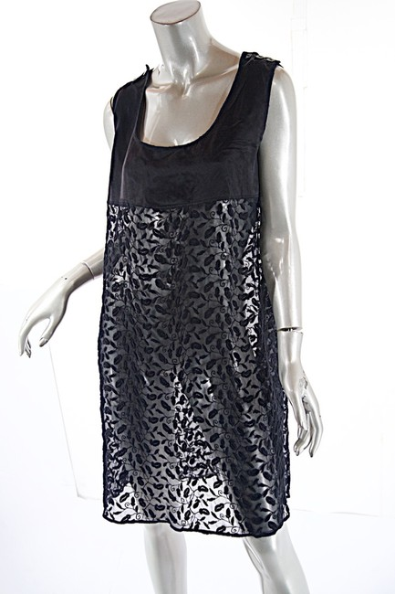 Jean-Paul Gaultier short dress black Sheer Tunic Embroidery Fauna on Tradesy Image 2