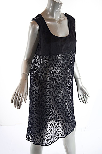 Jean-Paul Gaultier short dress black Sheer Tunic Embroidery Fauna on Tradesy Image 3