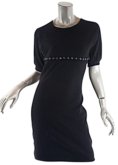 Preload https://img-static.tradesy.com/item/23436081/jean-paul-gaultier-black-public-cotton-knit-convertible-ss-spaghetti-strap-short-casual-dress-size-6-0-1-650-650.jpg