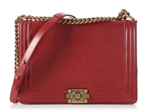 Chanel Antiqued Gold Ch.p0425.01 Gold Hardware Cross Body Bag