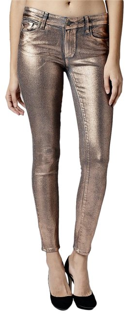 Item - Rose Gold Coated Verdugo Ultra Skinny Jeans Size 28 (4, S)