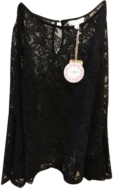 Preload https://img-static.tradesy.com/item/23436118/umgee-l-sheer-lace-blouse-with-flared-sleeve-black-top-0-1-650-650.jpg