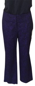 Ann Taylor LOFT Capris Purple & Black