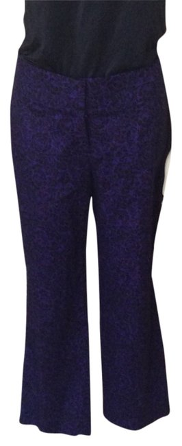 Preload https://item2.tradesy.com/images/ann-taylor-loft-purple-and-black-capris-size-14-l-34-2343616-0-0.jpg?width=400&height=650