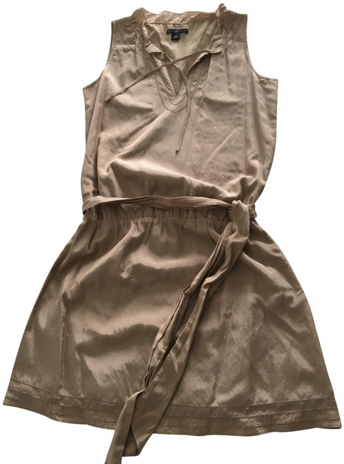 Gap Taupe/Beige No Short Casual Dress Size 0 (XS) Gap Taupe/Beige No Short Casual Dress Size 0 (XS) Image 1