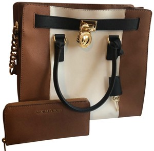 Michael Kors Purse And Wallet Satchel in white, brown, Black
