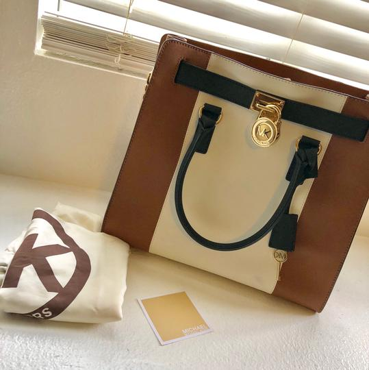 Michael Kors Purse And Wallet Satchel in white, brown, Black Image 1