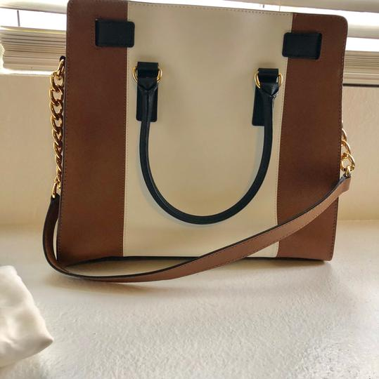 Michael Kors Purse And Wallet Satchel in white, brown, Black Image 2