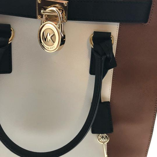 Michael Kors Purse And Wallet Satchel in white, brown, Black Image 3