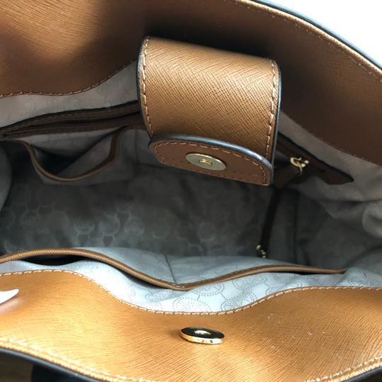 Michael Kors Purse And Wallet Satchel in white, brown, Black Image 4