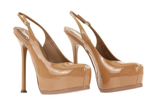 Saint Laurent Tribtoo Tribute Platform Stiletto Classic Beige Pumps Image 1