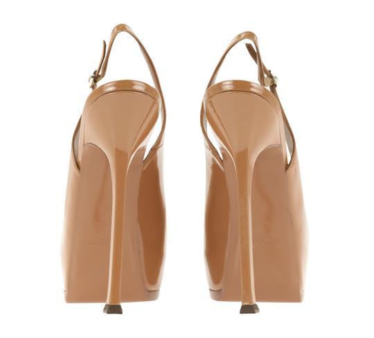 Saint Laurent Tribtoo Tribute Platform Stiletto Classic Beige Pumps Image 2