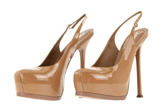 Saint Laurent Tribtoo Tribute Platform Stiletto Classic Beige Pumps Image 3