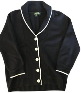 Lauren Ralph Lauren Knit Cotton Preppy Cardigan