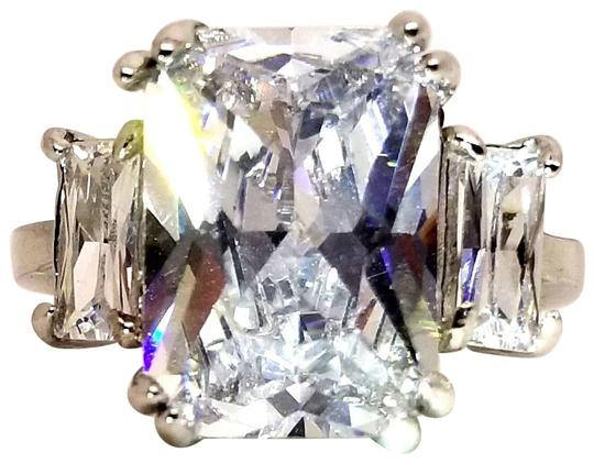 Preload https://img-static.tradesy.com/item/23436514/silver-758ct-emerald-cut-diamond-simulant-68ctw-baguette-accents-solitaire-ring-0-1-540-540.jpg