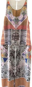 white, multi, Maxi Dress by Clover Canyon Abstract Summer