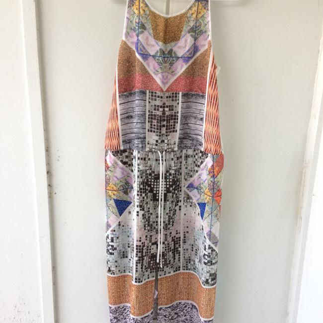 white, multi, Maxi Dress by Clover Canyon Abstract Summer Image 10