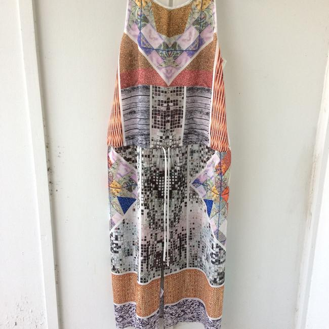 white, multi, Maxi Dress by Clover Canyon Abstract Summer Image 11