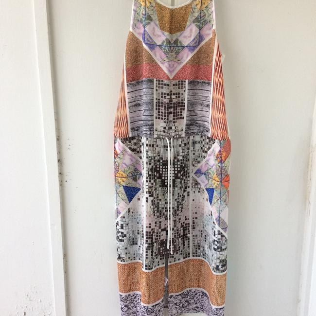 white, multi, Maxi Dress by Clover Canyon Abstract Summer Image 2