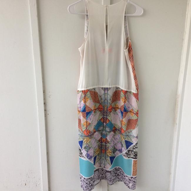 white, multi, Maxi Dress by Clover Canyon Abstract Summer Image 3