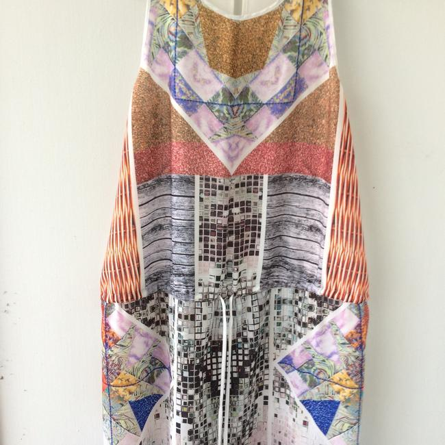 white, multi, Maxi Dress by Clover Canyon Abstract Summer Image 5