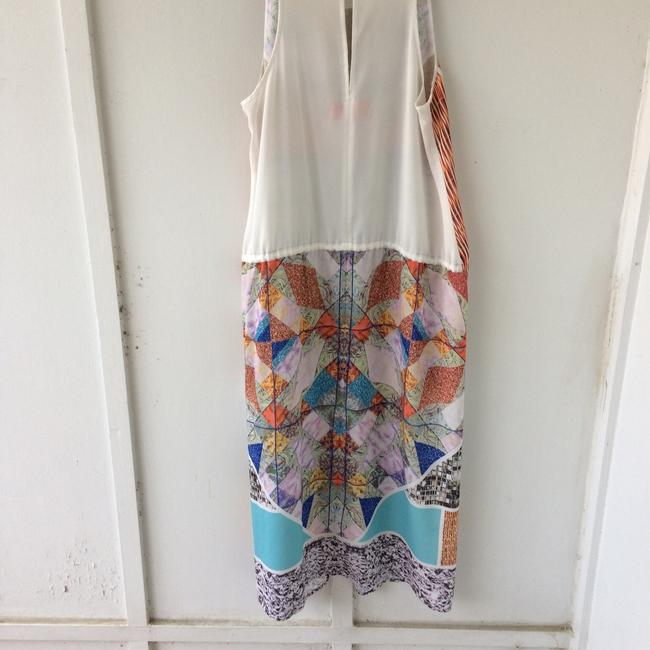 white, multi, Maxi Dress by Clover Canyon Abstract Summer Image 6