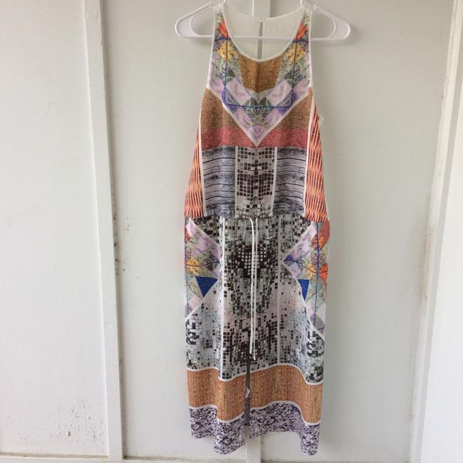 white, multi, Maxi Dress by Clover Canyon Abstract Summer Image 7