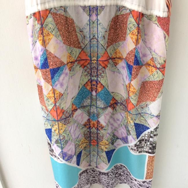 white, multi, Maxi Dress by Clover Canyon Abstract Summer Image 8