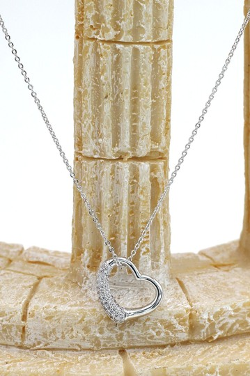 Ocean Fashion Silver Cabinet micro crystal heart necklace Image 3