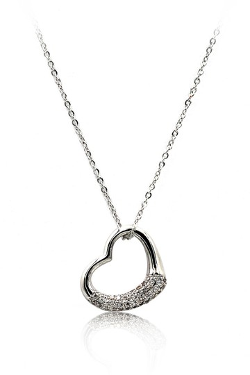 Preload https://img-static.tradesy.com/item/23436719/silver-sterling-cabinet-micro-crystal-heart-necklace-0-0-540-540.jpg