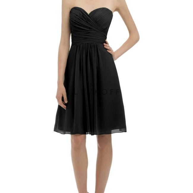 Item - Black Chiffon Halter In Perfect Condition Traditional Bridesmaid/Mob Dress Size 6 (S)
