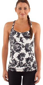 Lululemon Lululemon Free To Be Tank Laceoflage Polar Cream Black