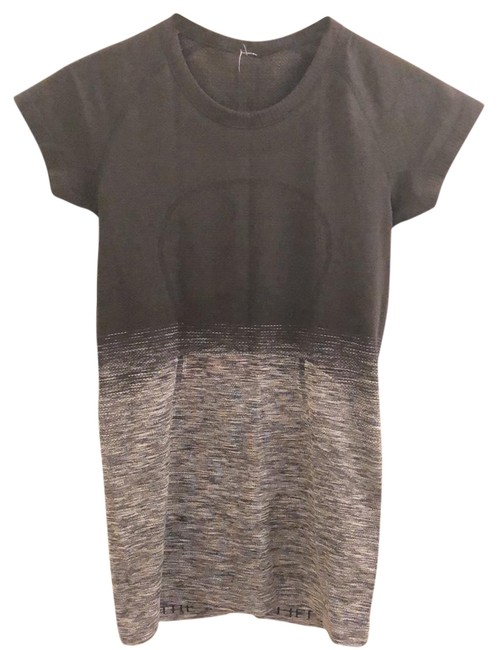 Item - Black/Gray Swiftly Sleeve Activewear Top Size 6 (S)