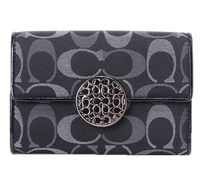Coach ~Like New~Sold out COACH Alexandra Signature 3 Color Med Wallet